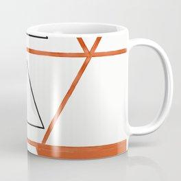 Orange Triangles Coffee Mug