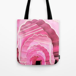 Amber Fort Jaipur Pink Mood Tote Bag