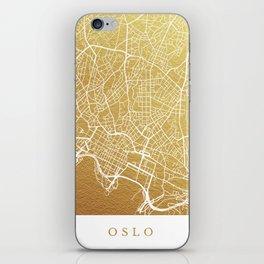 Gold Oslo map iPhone Skin