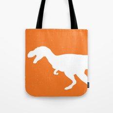 T-rex Orange Dinosaur Tote Bag