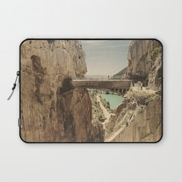 """""""The most dangerous trail in the world"""". El Caminito del Rey Laptop Sleeve"""