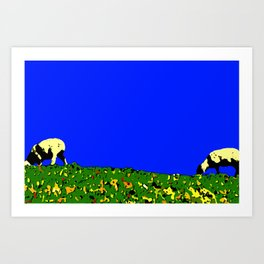 Bookends - Two Sheep - Cuckmere Haven, Sussex, UK Art Print