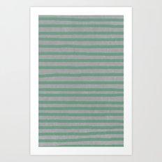 Concrete & Stripes Art Print