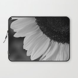 Black and White Sunflower Photography Print Laptop Sleeve