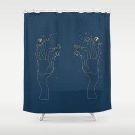 Hand Elements Shower Curtain