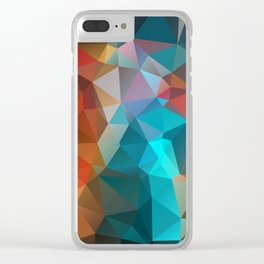 Abstract bright background of triangles polygon print illustration Clear iPhone Case