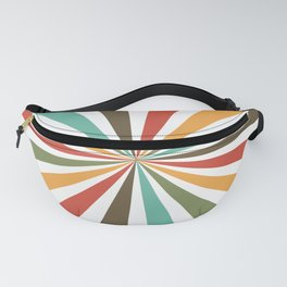 Retro Stripes In Transparent Background, A Set Of Several Vintage Classic Colors, No 02 Fanny Pack