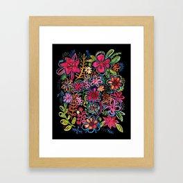 Meadow on black Framed Art Print