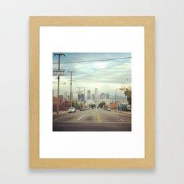City of LA Framed Art Print