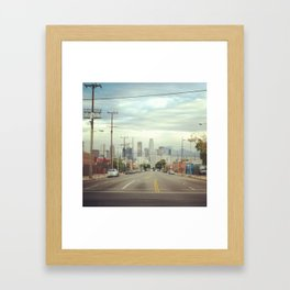 City of LA Framed Art Print