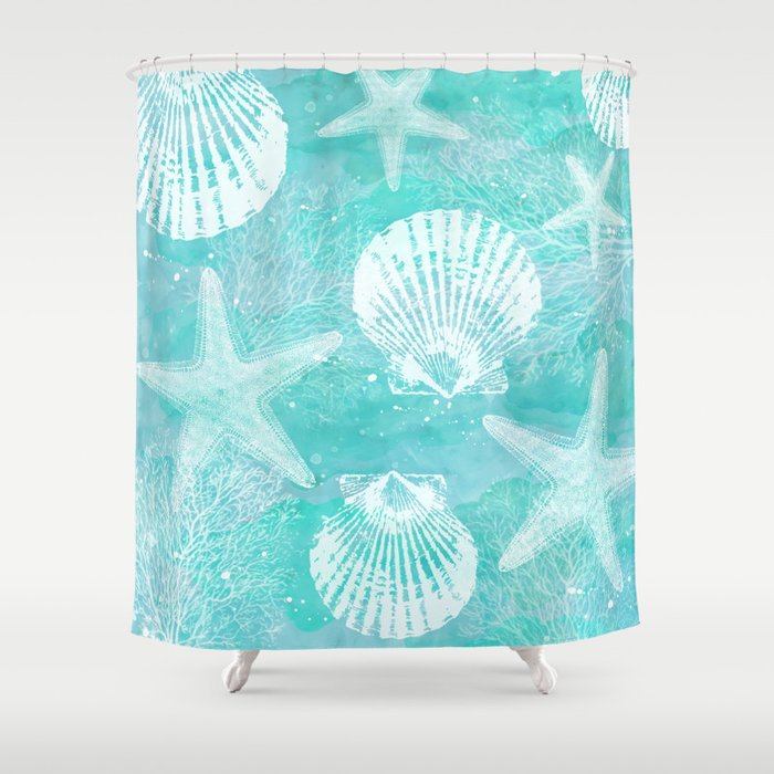 coastal Shower Curtain by sylviacookphotography | Society6