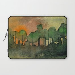 The Woods II Orange Laptop Sleeve