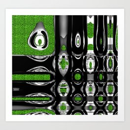 Verde botella Art Print
