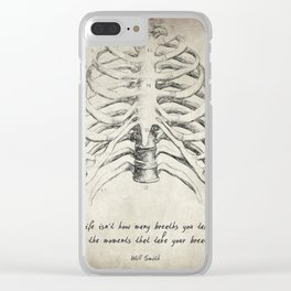 Breathe Quote Clear iPhone Case