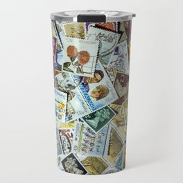 Postage Stamp Collection Travel Mug