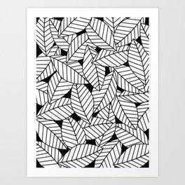 Leaves in Black Art Print