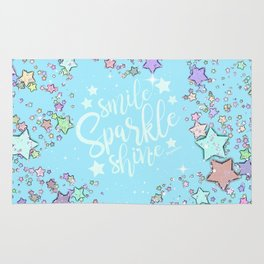 Turquoise Sparkle And Shine Rug