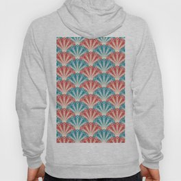 Colorful Abstract Peacock Feather Pattern Hoody