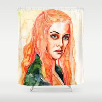 lions Shower Curtains featuring Lions by Maria Bruggeman