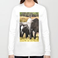 elephants Long Sleeve T-shirts featuring Elephants by Regan's World
