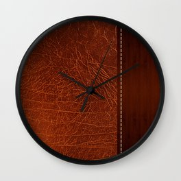 Brown leather look #2 Wall Clock