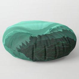 My road, my way. Turquoise. Floor Pillow