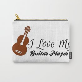 I Love My Guitar Player Carry-All Pouch