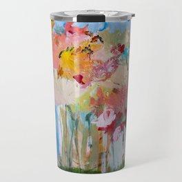 Spring Bloom Flower's Garden Abstract Contemporary Original Art Travel Mug