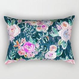 Midnight PROFUSION FLORAL Rectangular Pillow