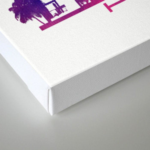 Kuala Lumpur skyline purple Canvas Print