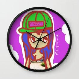 Skater Girl Wall Clock