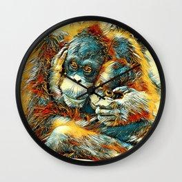 AnimalArt_OrangUtan_20170603_by_JAMColorsSpecial Wall Clock