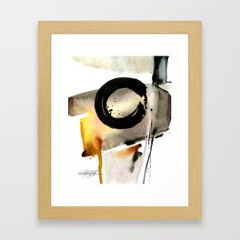 Enso Abstraction No. 105 by Kathy morton Stanion Framed Art Print