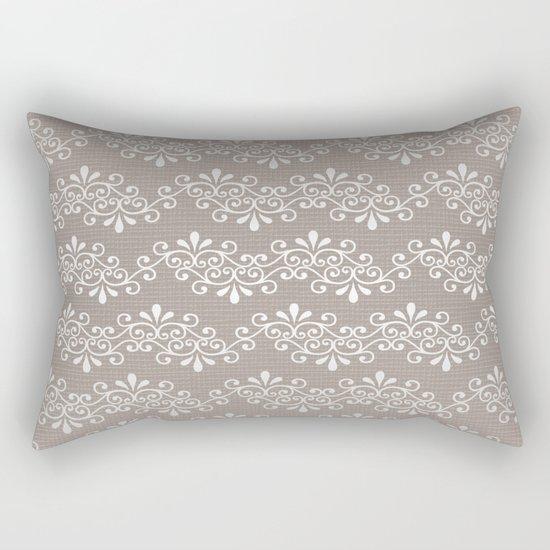Lace on Burlap Rectangular Pillow
