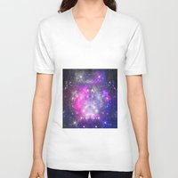 universe V-neck T-shirts featuring Universe by haroulita