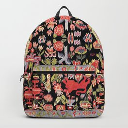 Täcke Antique Swedish Skåne Wedding Blanket Print Backpack