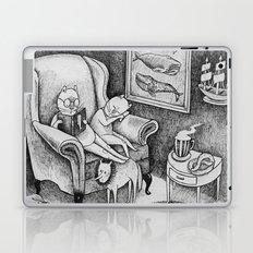 Whale Reader Laptop & iPad Skin