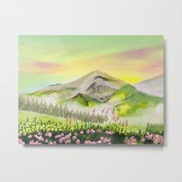 Mountain Wildflowers Metal Print