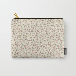 Shabby Chic Roses on Green Carry-All Pouch
