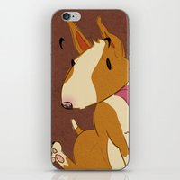bull terrier iPhone & iPod Skins featuring Bull Terrier by Kristen Rimmel