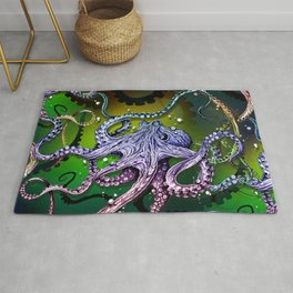 Rainbow Octopus Rug