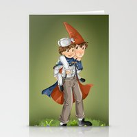 over the garden wall Stationery Cards featuring over the garden wall by theginga15