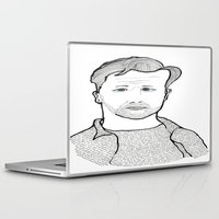 kerouac Laptop & iPad Skins featuring Jack Kerouac wearing his words by daniel davidson