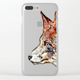 Space Fox no3 Clear iPhone Case