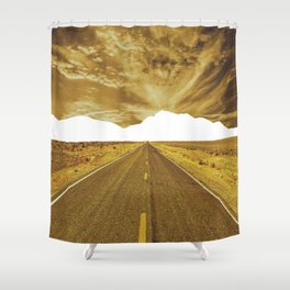 Lost Horizon Vertical3 Shower Curtain