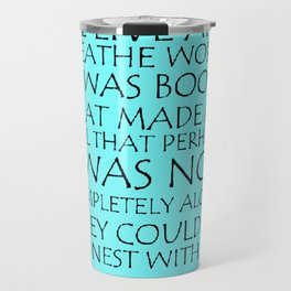 We Live And Breathe Words Travel Mug