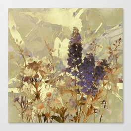 floral on beige Canvas Print