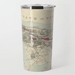 Vintage Map of NYC & The Croton Aqueduct (1899) Travel Mug