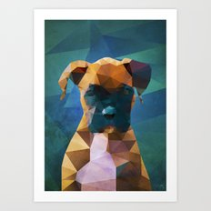 The Boxer - Dog Portrait Art Print