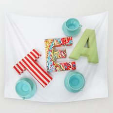 Tea for Three Wall Tapestry